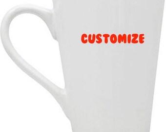 Classic White Tapered Stoneware Mugs, 14 oz