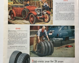 1946 Goodyear Tire Ad from Saturday Evening Post