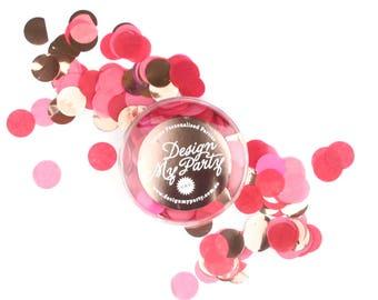 Ruby Glam Confetti - Island Pink, Fuschia & Rose Gold Copper