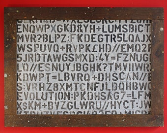 Enigma - typographic wall art
