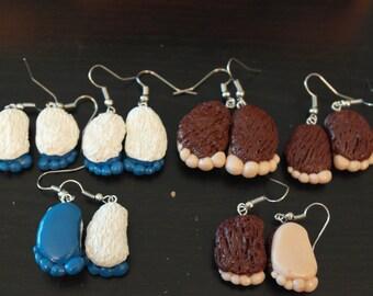 Bigfoot/Yeti Earrings