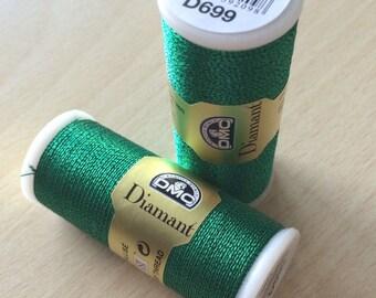 Diamond of DMC 699 green embroidery thread