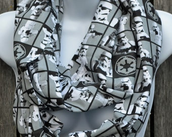 Infinity Scarf made from Stormtrooper fabric