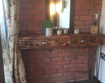 Pallet wood console table
