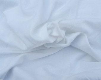 "White Hemp Organic Cotton Spandex Blend Fabric Jersey Knit Eco-Friendly 2/16 55"""
