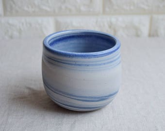 Blue and white marbled ceramic mug, contemporary mug, Ceramic Cup, Ceramic Tumbler, Porcelain Mug, Coffee Mug, interior design (M37)