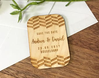 10+ Wooden Save the Date Magnets, Custom Engraved, Rectangle, Rustic Wedding, Country Wedding