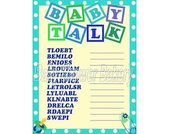 Boy Baby Shower Game, Baby Word Scramble, Baby Shower Game for Boy, Instant Download Baby Shower, Printable Shower Game