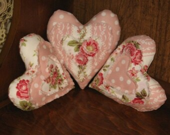 Raggy Hearts Shelf Sitter, Ornies, Small Pillows, Bowl Fillers Mailed Paper Pattern by Sew Practical, Mom and Pop Craft