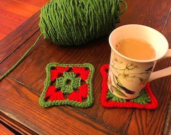 CD Coasters Crochet Pattern PDF Maggiescrochet 799 Handmade KelinaARTStudio 599 Holiday Set Of 6