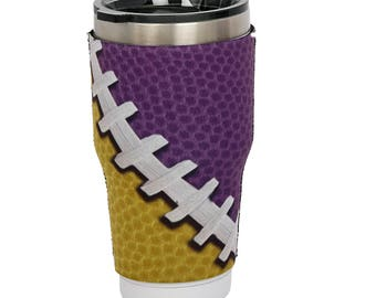 LSU Tigers Purple/Yellow Yeti Sleeve- 30oz Tumbler-Game Day Team Color-Customize Your Cup!