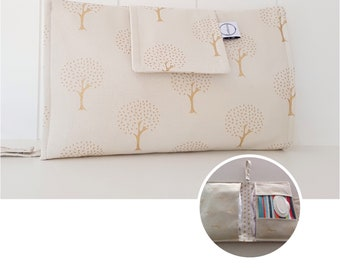 Metallic Gold Trees Nappy Wallet with wipes pocket