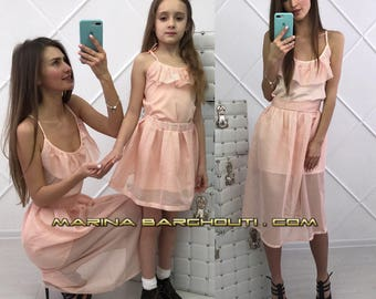 High Fashion Mother & Daughter Matching Outfit, set of 2 Dresses