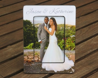 Unique Wedding Gift, Personalized Engagment Picture Frame, Unique Engagement Gift, Custom Anniversary Picture Frame, Shower Gift,