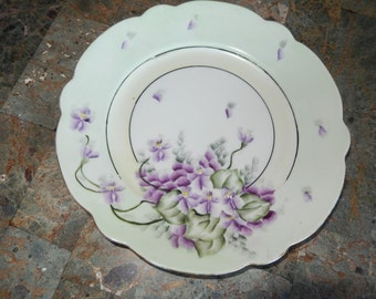 AUSTRIA Hand Painted Plate Signed Freiberg