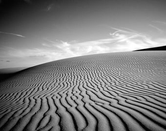 Oceano Dunes Pismo Beach Landscape Square Photography Print Black and White Fine Art Wall Art Decor | Also Available on Canvas or Metal