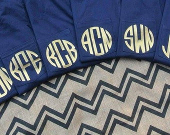 Monogram pocket tee! Long sleeve monogram shirt! Lots of colors! Plus size! Available in S-5XL!