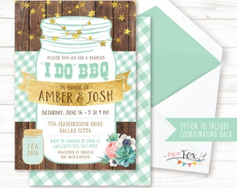 I Do BBQ Invitation, I Do BBQ Couples Shower, Rustic Wedding Shower Invitation, Shower Invite, Couples bbq Shower, I do bbq, PRINTABLE