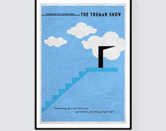 The Truman Show Minimalist Alternative Movie Print & Poster
