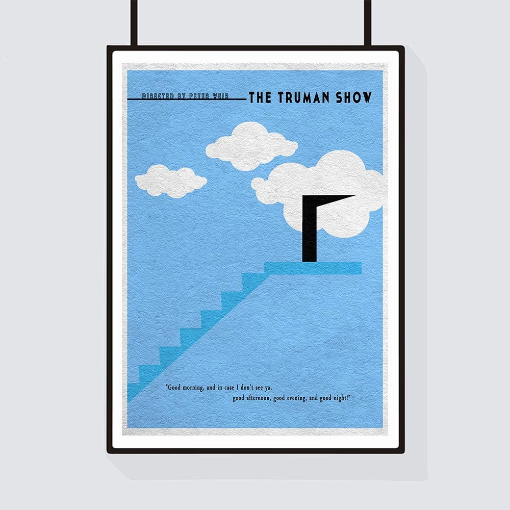 The Truman Show Minimalist Alternative Movie Print Poster