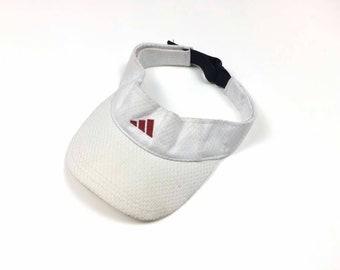 ADIDAS THREE STRIPED Cap Visor Sun Hats Big Logo white