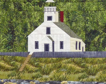 Old Mission Point, MI Lighthouse quilt pattern - ON SALE