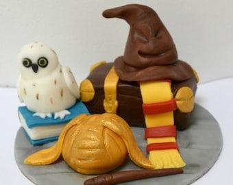 Handmade edible Harry Potter, Hedwig, Cake Topper, birthday