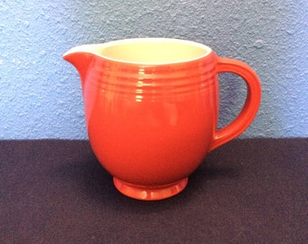 Vintage Hall Red Water Pitcher