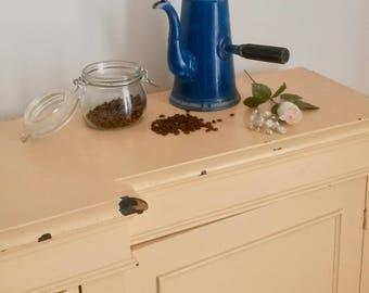 Chocolatière, Chocolate, Percolator, Vintage Barware, Farmhouse Decor, English Vintage Chocolate Pot, Vintage Blue Kitchenalia