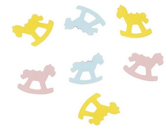 Confetti Pack - Rocking Horse - Pink, Blue, Yellow - 1630-73