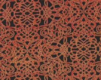 Kaufman Christmas Metallic Holiday Flourish 8 15147 223 Red Garland by the yard