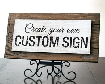 Custom Signs with Rustic Wood. Rustic Signs. Business Sign. Rustic Wedding Decor. Restaurant Sign. Farmhouse Decor. Personalized Gift. 14x7