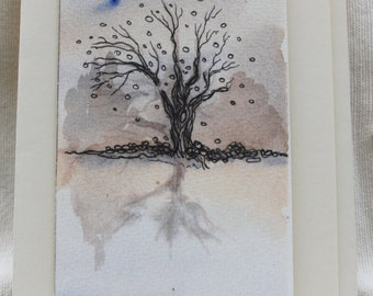 Autumn's Reflection. Hand-Crafted Greetings Card