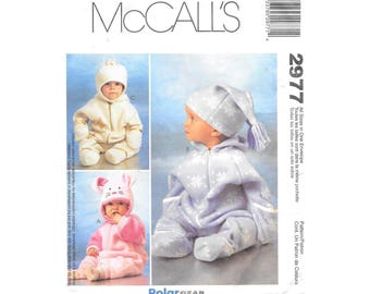 Baby Infant Bunting Hat Small Fleece Sewing Pattern McCalls 2977