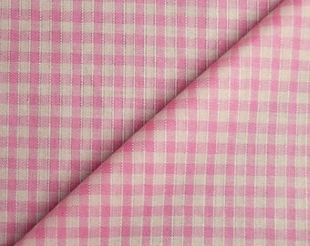 Fabric cotton fabric pink & white, 3x3mm, 100% cotton (in multiples of 20cm)
