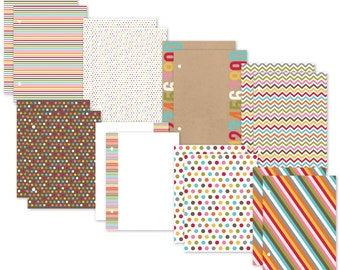 Simple Stories SN@P! Life Color Fusion Pages, Includes 8 Double-Sided Sheets for SNAP 6 x 8 Albums