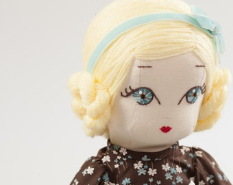 Alice - Handmade Cloth Doll
