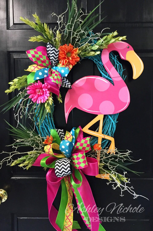 Pink Flamingo Door Hanger