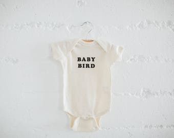 Baby Bird, Infant's bodysuit, by The Bee & The Fox