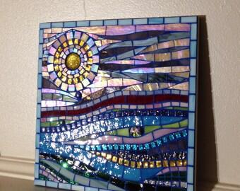 Abstract Beach Landscape 2 Mosaic