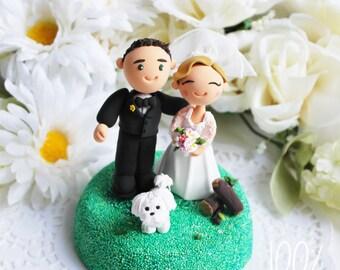 Custom Cake Topper- Rustic Wedding Theme