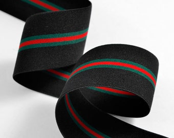 "1-3/4"" Elastic Stretch Band Ribbon Trim for headband, hand band and waist belt, 1 yard, TR-11368"