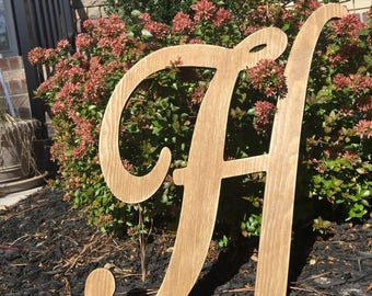 Large Letter/ Wall Decor/ Wedding Decor/ Wedding Prop/ Shabby Chic Wall Decor/ Nursery Letters/ Personalized Decor, wOOD lETTeRS