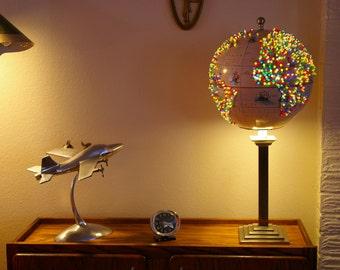 Stunning Handmade World Globe Decorative Desk/Reading Lamp FREE U.S.  Shipping!