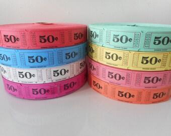 50 Cent Raffle Tickets