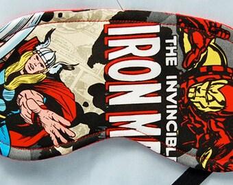Marvel Heros (B) cotton fabric sleep mask