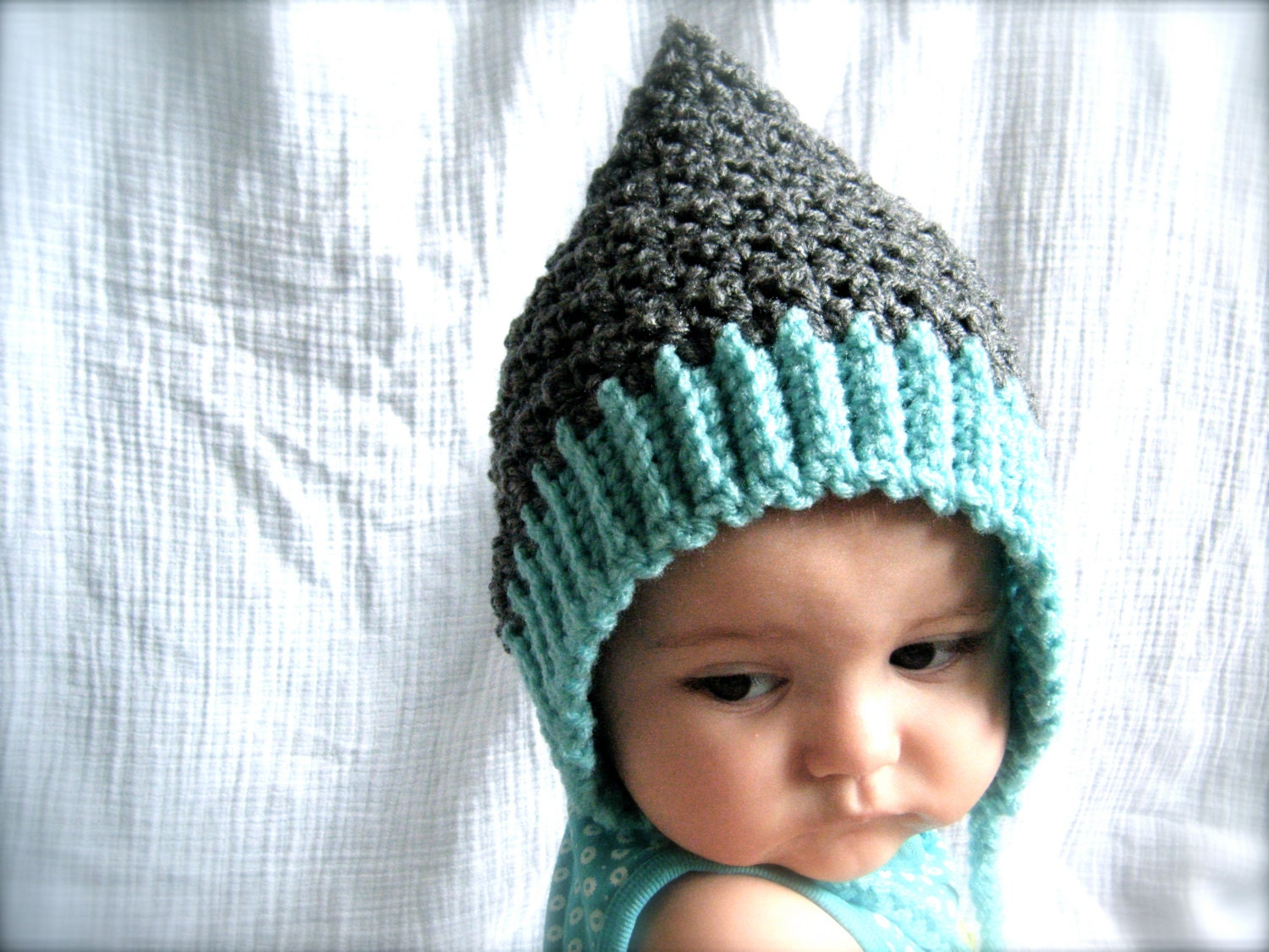 PATTERN: Seedling Pixie Bonnet, baby hat, 3 Sizes, easy crochet PDF ...