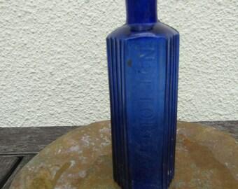 BLUE POISON BOTTLE