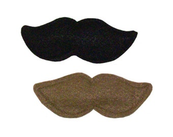 Wool felt catnip toys, Moustache - stuffed with our all-natural homegrown catnip, guaranteed fun!