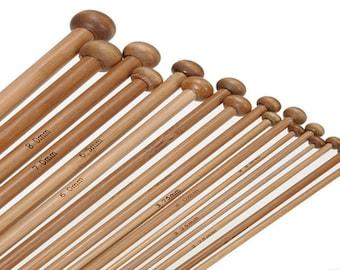 Straight needle 3.25 mm bamboo
